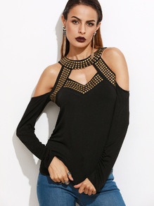 Studded black top