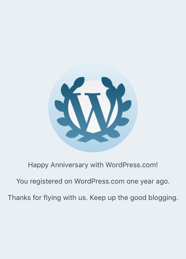 First blog birthday of Renegade7x